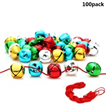 Yokoke Country Primitive Craft Look Rusty Tin Jingle Bells and Stars for Christmas Holiday or Everyday Crafting and Embellishing /… 60PCS Bells Plus Stars