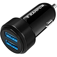 6A Dual Port Car Charger with 18W Power Delivery 3.0 and 19.5W Quick Charge 3.0 Black USB Car Charger for iPhone 11//XS Max//XR//X//8//7 Samsung S10//S9//S8 and More RAMPOW 37.5W USB C Car Charger