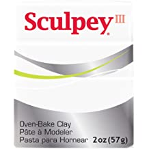 PE02 5527 Premo Sculpey Polymer Clay 2 Ounces-White Translucent