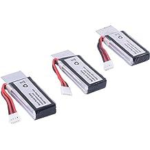 AWANFI 2S 7.4V 5000mAh 100C RC LiPo Batteries with Deans Plug 2 Pack