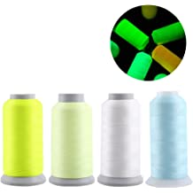 Healifty 5pcs Glow in The Dark Sewing Thread Embroidery Thread Luminous Thread for Cross-Stitch Bag Sewing Craft