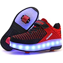 906a89631654b5 Ufatansy CPS LED Fashion Sneakers Kids Girls Boys Light Up Wheels Skate  Shoes Comfortable Mesh Surface Roller Shoes Thanksgiving Christmas Day .
