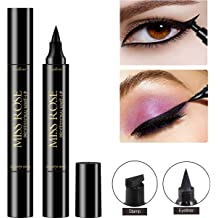c3d9b5cd889 Eyeliner Stamp - Eye Wingliner by Angel Kiss- Double-Ended Stamp Liquid  Liner,Vogue Effects Black,Waterproof Make Up, Smudgeproof,Winged Long .