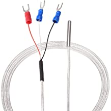 Akozon RTD PT100 Waterproof Temperature Sensor 1//2 NPT Threads with 2 Meter Cable