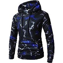 Balakie Solid Zipper Pullover Drawstring Blouse Jacket Mens Long Sleeve Hoodie