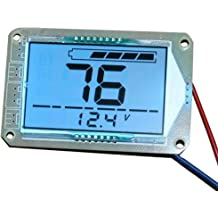 CPTDCL Multifunction 12V LCD Lead Acid Battery Capacity Meter Voltmeter Temperature Display Battery Fuel Gauge Indicator Voltage Monitor