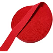 3-Yards Red, 1-Inch Gourd Colored Woven Elastic Band