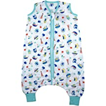Slumbersac Reversible Sleeping Bag with Feet with Poppers Removable Long Sleeves 2.5 Tog AOP Nautical 18-24//90cm