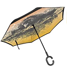 Double Layer Inverted Inverted Umbrella Is Light And Sturdy American Flag Vintage Textured Background Vector Reverse Umbrella And Windproof Umbrella