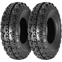 Set of 2 MaxAuto 24x9-10 24x9x10 ATV Front Tire Replacement for Kawasaki Mule 610 4x4 2005-2016 6Ply