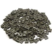 30pcs Metal Extruded U-Nut Clips Kit U Type Screw For Hood Body Panel Fender