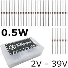watersouprty 270 Pcs 2.4V-33V 27 Values 1//2W 0.5W Zener Diode Assorted Kit