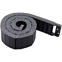 HLin R15 7mm x 7mm Black Plastic Cable Wire Carrier Drag Chain 1M Length for CNC