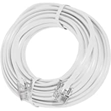 SHONCO 2 Pack 10M 33ft Phone Telephone Extension Cord Cable Line Wire with Standard RJ11 6P4C Plugs for Landline Telephone,Black
