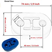 I33T 2 Holes Exhaust Mount Insulator Grommet Rubber Universal Muffler Hanger Bushing 0.47 Inch Hole Size Pack of 2 Pieces Blue