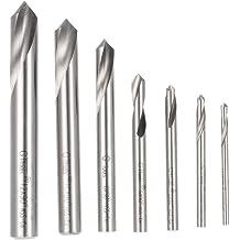 Right Hand 3-1-//2 OAL M35 5/% Cobalt 3//8 Diameter HHIP 5000-1012 90 Degree Split Point NC Spotting Drill Bit 1-1//8 Flute Length