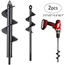3.2in x 7.1in and 3.2in x12in Solid Barrel Garden Auger Spiral Drill Bit for Planting for 3//8 Hex Drive Drill Apply to All Kinds of Soil Garden Auger Spiral Drill Bit Upgrade Auger Drill Bit