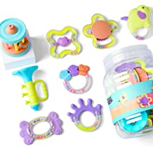 Babies Chewing Silicone Teether 5 12PCS Infants Teething Play Toys Shaker Grab Boy, 18 Month Old Newborn 9 EP EXERCISE Baby Rattles Set 12 Development Educational Musical Gift Set for 4 6
