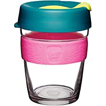 50529303bae KeepCup 12oz Reusable Coffee Cup. Toughened Glass Cup & Non-Slip  Silicone Band