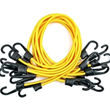 Wire Racks LONG Multipurpose Mini Bungee Cord with Steel Hook Ideal for Tarps Tents 14in X 2, yellow other Camping Accessories and Auto Park Accessories