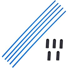 Hobbypark 5PCS Plastic Antenna Tube with Cap Black for RC Remote Control Vehicles FPV Drone Quadcopter Multicopters Boats 2.4G Receiver