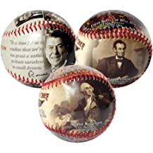 AMERICAN MINT Ronald Reagan Collectible Baseball Expertly Crafted from Quality Rawhide