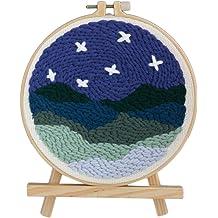 Petforu Rug Hooking Kits DIY Knitting Wool Embroidery Handcraft Latch Hook Alpaca