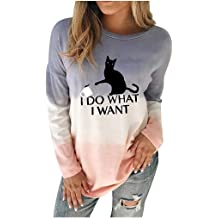 EDC Womens Crewneck Pullover Sweatshirt Casual Basic Sunflower Letter Graphic Print Long Sleeve Tops Blouse Shirts