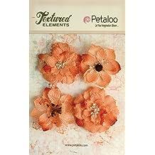 Velvet Fabric MAUVE 12 Mini BLOSSOMS 25mm /& 12Leaves 25x30mm Jute Tie Petaloo V1