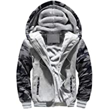 F/_Gotal Mens Zip Up Hoodie Heavyweight Winter Sweatshirt Fleece Sherpa Lined Warm Jacket Warm Plus Size Sports Outwear