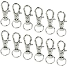 Lobster Clasps Swivel Trigger Clips Snap Hooks Key Ring Bag Charm Findings1-100x