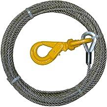 """CRANE WRECKER ROLLBACK TOW TRUCK WINCH CABLE 1//2/"""" x 50/' IWRC EIPS SWIVEL HOOK"""