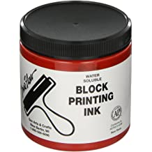 Sax Versablock Block Printing Inks 8 Ounce Jars Set of 8 Assorted Colors