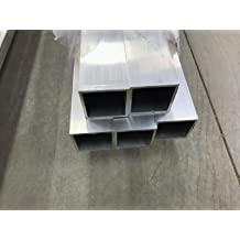 8 FT 3//4 Square Tubing .050 Wall Clear Anodized Aluminum 96 3 Pack