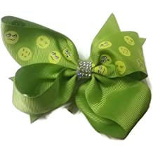 Kissy Kissing emoji Sparkle Cheer Hair Bow