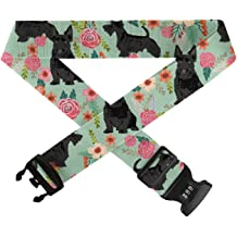 Adjustable Luggage Straps//Travel Bag Strap//Suitcase Belts TSA Approved Lock Gift 1 Set GLORY ART Travel Accessories Floral Cute Dog Mint Vintage