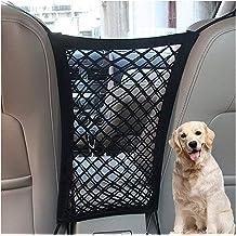 OUDEW Car Handbag Holder,Car Net Pocket Organizer for Purse and Bags,Dog Car Barrier,Red