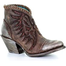 Circle G by CORRAL Women/'s Distressed Honey Winter Boots With Straps P5060
