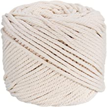 DeeCoo Macrame Cord 4mm x 328yd 100/% Natural Cotton Macrame Rope 3 Strand Twisted Cotton Cord for Handmade Plant Hanger Wall Hanging Craft Making Bohemia Dream Catcher DIY Craft Knitting
