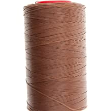 RITZA TIGRE WAXED HAND SEWING THREAD 1.0m FOR LEATHER//CANVAS /& 2 NEEDLES M BROWN