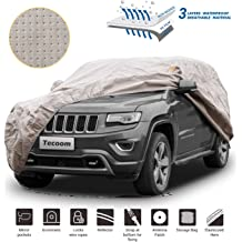 Tecoom Thick Shell Truck Pickup Cover Breathable Waterproof Windproof with Straps and Buckles Antenna Patch All Season Weather-Proof Fit Full Size Truck Length Up to 252 Inches