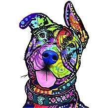 4.13 x 4.88 Sugar Skull Dog Cali French Bulldog Sticker DECAL