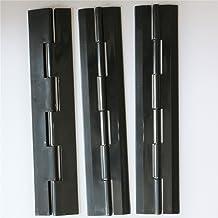 Displays Hinged Hasp Staple Hasps,Tanks 2 x Black Acrylic Hasps /& Staple 60mm x 27mm x 18mm 2-23//64
