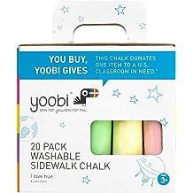 4pk Yoobi Washable Egg Shaped Sidewalk Chalk Multicolor