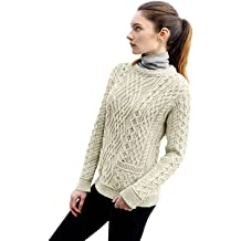 West End Knitwear Ladies Knit Shirt Tail Cowl Neck Wool Sweater