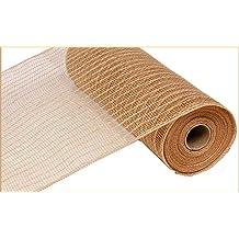 Deco Mesh Pink /& Blue w Foil Thread  21 inch 10 yard roll cb16cs re1051x6 NEW
