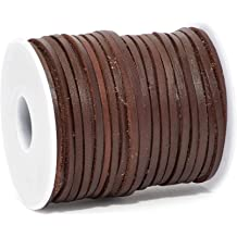 Red Brown, 10mm X 10 Yards Belts Necklaces Bracelets Craft County Flat Braided Leather Jewelry Craft Cord Crafts and Jewelry Making