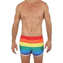 UZZI Red//White//Blue Americana Flag Men/'s Bike//Swim Shorts Swimsuit NWT Size L