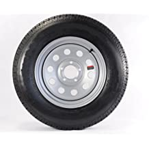 2-Pack Trailer Tire and Rim ST185//80R13D 13X4.5 4-4 Galvanized Spoke 2.82CB