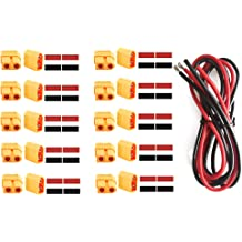 52PCS FPVDrone Deans T-Plug EC3 XT60 Male and Female Adapter Connector with Silicone Wire and Heat Shrink Tubes for RC ESC Lipo Battery Motor